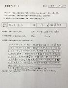 佐々木真人さん 【 腰部打撲を治療:バスケ 】
